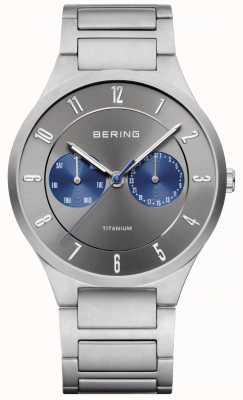 Bering Montre chronographe homme en titane gris 11539-777