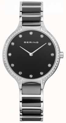 Bering Montre zirconique en céramique noire 30434-742