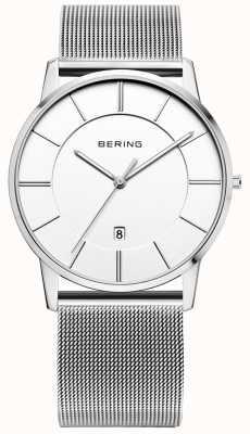 Bering Montre classique en maille blanche 13139-000