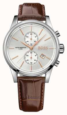 Hugo Boss Montre homme chrono en cuir marron jet ex 1513280EX-DISPLAY