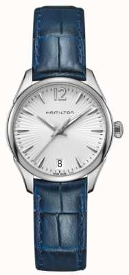 Hamilton Womans jazzmaster quartz en cuir bleu H42211655