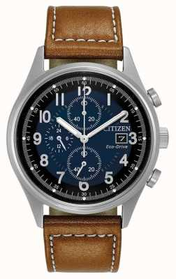 Citizen Mens Eco-Drive chronographe bleu chandler CA0621-05L
