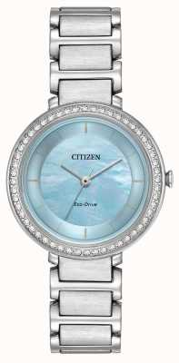 Citizen Womans eco-drive silhouette cristal bleu EM0480-52N
