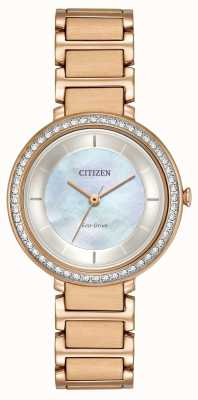 Citizen Womans eco-drive silhouette cristal or rose EM0483-54D