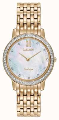 Citizen Womans eco-drive silhouette cristal or rose EX1483-50D