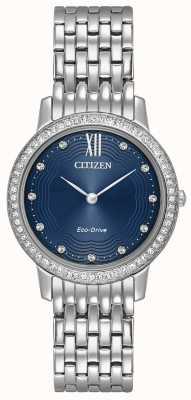 Citizen Womans eco-drive silhouette cristal bleu EX1480-58L