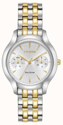 Citizen Womans eco-drive silhouette chandler deux tons FD4014-56A