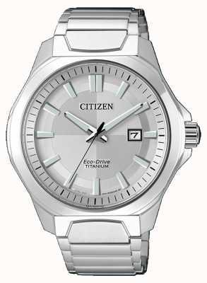 Citizen Mens eco-drive super-titane montre en argent AW1540-88A