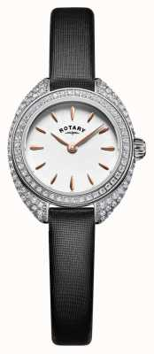 Rotary Womans Petite Stone Set Mesh Argent LS05087/02