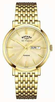 Rotary Bracelet Mens windsor plaqué or GB90156/03