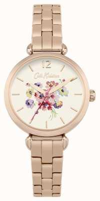 Cath Kidston Womans rose bracelet en métal doré CKL015RGM