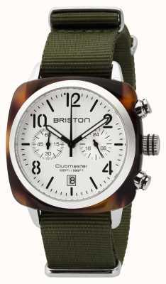 Briston Homme clubmaster classique acétate chrono tortoise shell blanc 16140.SA.T.2.NGA