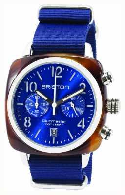 Briston Mens clubmaster classique acétate chrono tortue bleu 15140.SA.T.9.NNB
