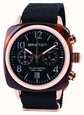 Briston Hommes Clubmaster acétate noir classique chrono 14140.PRA.T.1.NB