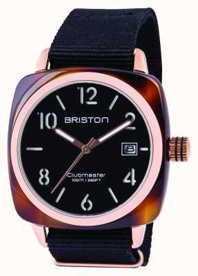 Briston Mens clubmaster acétate classique noir 13240.PRA.T.1.NB