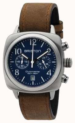 Briston acier Mens Clubmaster bleu classique chrono mat 16140.S.C.15.LVBR