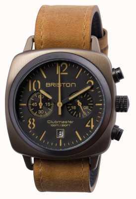 Briston Maillot clubmaster classique en acier chrono kaki 15140.SPK.C.5.LVBR