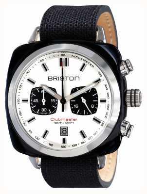 Briston Mens acétate le sport Clubmaster noir chrono 15142.SA.BS.2.LSB