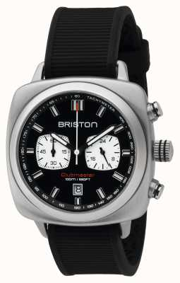 Briston Mens acier du sport Clubmaster noir chrono 16142.S.SP.1.RB