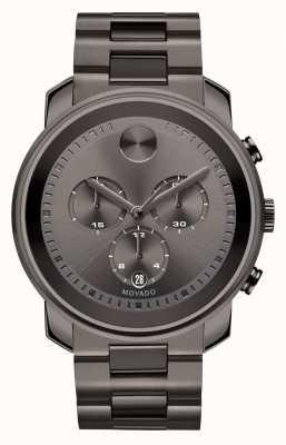 Movado gris Gras grand bronze chronographe ion-plaqué 3600277