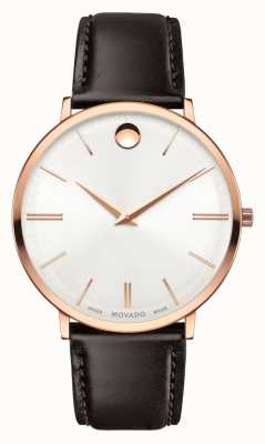 Movado or rose ultra mince hommes-fini pvd 0607089