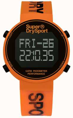 Superdry Unisexe digi podomètre bracelet en silicone orange, SYG203O