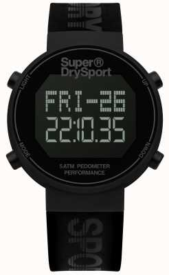 Superdry Unisexe digi podomètre bracelet en silicone noir SYG203BB