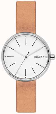 Skagen Womens signatur cadran blanc marron clair SKW2594