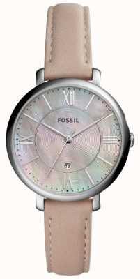 Fossil Womans jacqueline vadrouille cadran rose bracelet en cuir ES4151