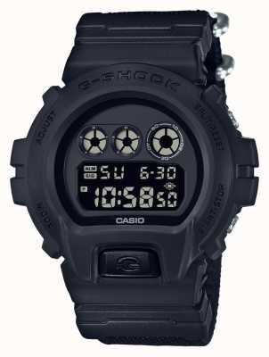 Casio Mens g-shock noir sur bracelet en tissu DW-6900BBN-1ER