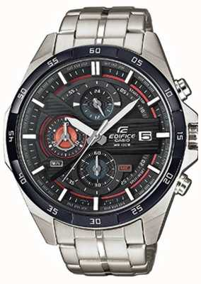 Casio Mens edifice acier inoxydable cadran noir chrono EFR-556DB-1AVUEF