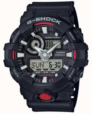 Casio Mens g-shock alarme chronographe noir GA-700-1AER