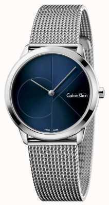 Calvin Klein Cadran bleu minimal en acier inoxydable K3M2212N