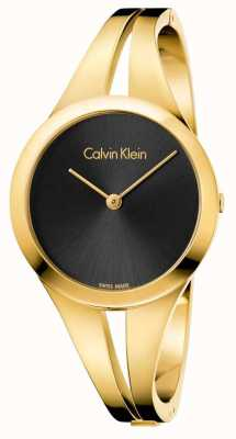 Calvin Klein Womans addict or toned bangle black dial K7W2S511