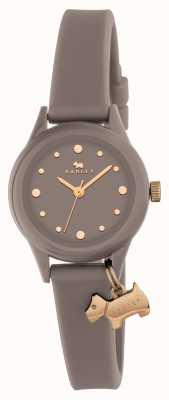 Radley Montre 'watch it' pour femme, bracelet gris, marqueurs d'or RY2322