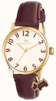 Radley Womans liverpool rue bracelet en cuir bordeaux RY2454