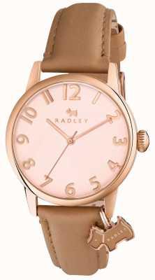 Radley Womans liverpool rue bracelet brun en cuir de lumière RY2458
