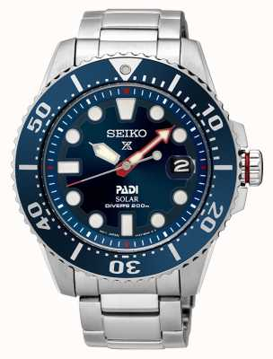 Seiko Mens padi Prospex cadran bleu solaire SNE435P1