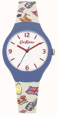 Cath Kidston Womans blanc sangle graphique britannique en silicone CKL026CU
