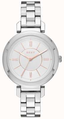 DKNY Womans ELLINGTON montre d'argent d'acier NY2582