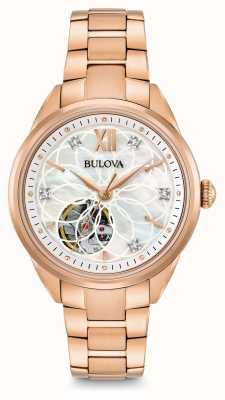 Bulova automatique montre en diamant des femmes 97P121