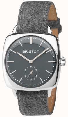 Briston Mens clubmaster gris vintage bracelet en tissu gris 17440.PS.V.17.LFG