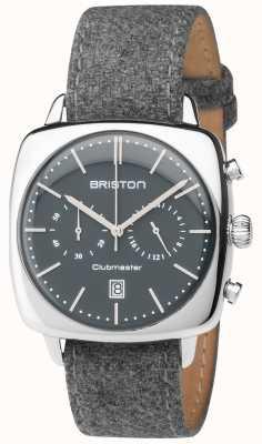 Briston Hommes cru clubmaster bracelet en tissu gris cadran gris 17140.PS.V.17.LFG