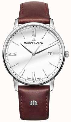 Maurice Lacroix Montre en cuir marron pour homme Eliros EL1118-SS001-113-1