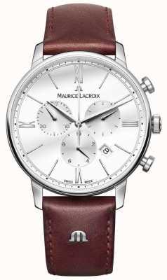 Maurice Lacroix Eliros mens chronographe cuir marron EL1098-SS001-112-1