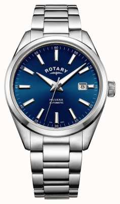 Rotary bleu acier inoxydable Mens havane GB05077/05