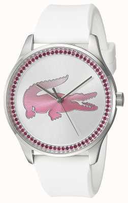 Lacoste Womans victoria quartz bracelet en silicone blanc 2000970