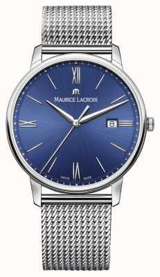 Maurice Lacroix bracelet bracelet en maille de bleu de Mens EL1118-SS002-410-1