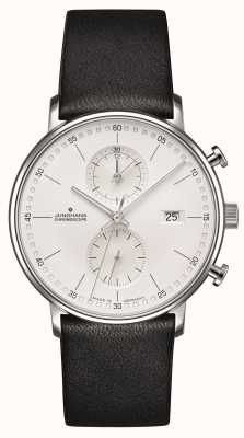 Junghans Forme c chronoscope sangle de veau noir 041/4770.00