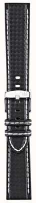 Morellato Courroie seulement - techno de vélo noir / blanc 22mm A01U3586977817CR22